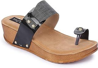 Walkfree Women's Fabric Material Sandals