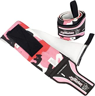 Professional Grade Weightlifting Wrist Support Strap for Powerlifting and Strength Training ESTREMO Wrist Wraps 18 with Thumb Loops Ideal for Men and Women