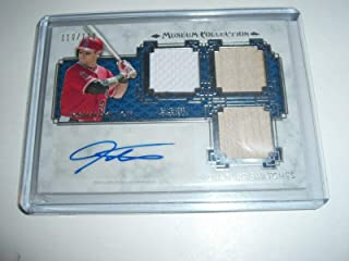 Josh Hamilton 2014 Topps Game Used Triple Jersey/bat Auto 110/110 Signed Card - Baseball Slabbed Autographed Cards