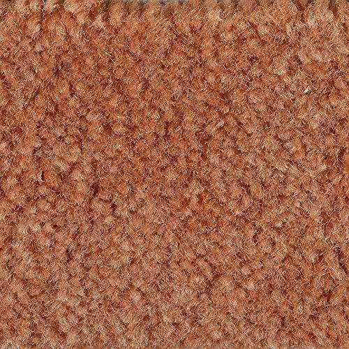 Teppichboden Auslegware Meterware Velour meliert orange terra 400 cm und 500 cm breit, verschiedene Längen