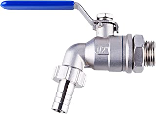 TIZZE 1/2 inch Stainless Steel Ball Valve Weldless Bulkhead for Building Home Brew Kettle/Mash Tun
