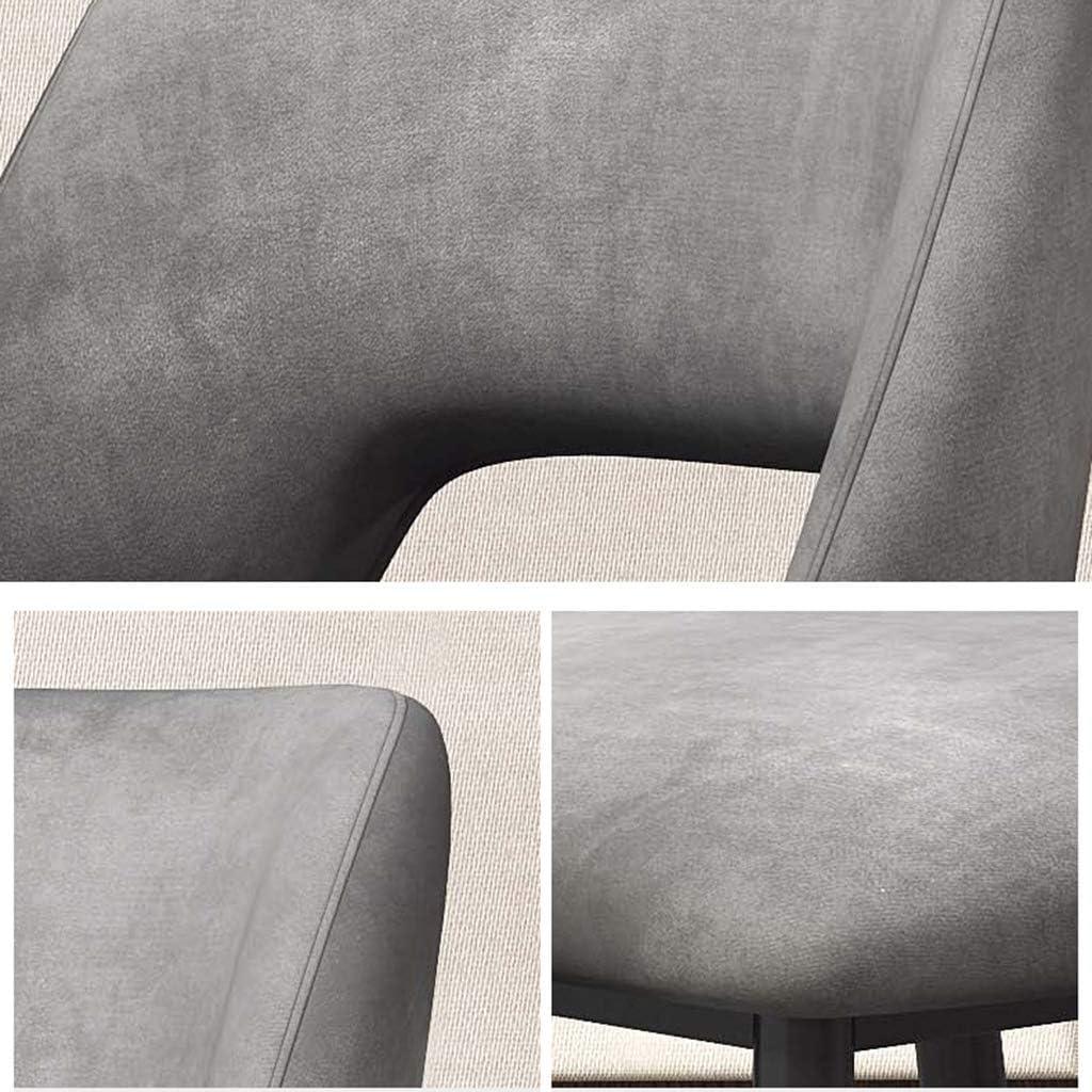 DXZ-Design Chaises de Salle à Manger Chaises de Cuisine de Meubles Modernes, chaises de Loisirs de siège rembourré Doux, Jambes en métal (Gris, Hauteur du siège: 50 cm) #1