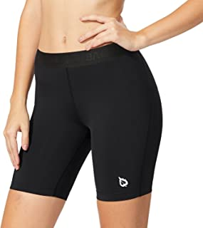 BALEAF Women's 4 Inches/7 Inches Compression Volleyball Shorts Training Workout Short