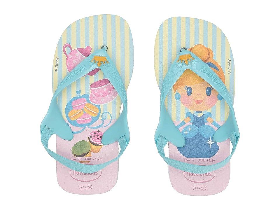 Havaianas Kids Baby Disney Princess Flip-Flop (Toddler) (White Ice/Ice Blue/Ice Blue) Girls Shoes