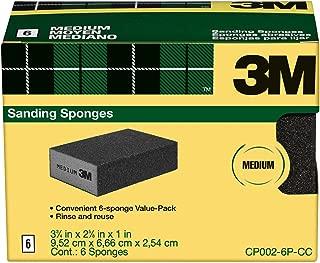 3M Sanding Sponge, Medium Grit, 6-Pack - CP002-6P-CC