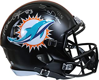 Mark Clayton & Mark Duper Autographed Miami Dolphins Black Matte Riddell Speed Replica Full Size Helmet w/Tristar COA