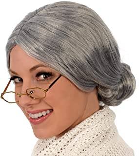 Kangaroo's Old Lady / Mrs. Santa Wig; Gray Wig