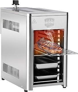 BARBEC-U Barbecue a Gas in Acciaio Inox ad Alta Potenza da 200 a 800 °C su 10 Livelli di Cottura, per Carne, Pesce, Frutta...