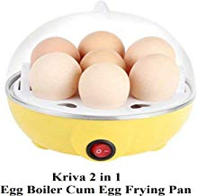 Kriva Plastic 7 Layer Egg Boiler And Steamer Omlette Frying Pan For Home, Multi Color