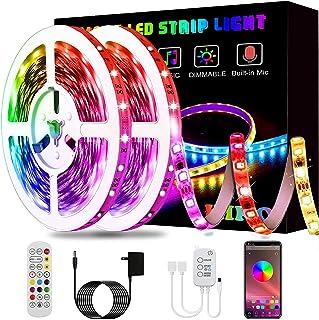 Led Strip Lights, KIKO 32.8ft Led Lights Smart Color Changing Rope Lights SMD 5050 RGB Light Strips with Bluetooth Control...