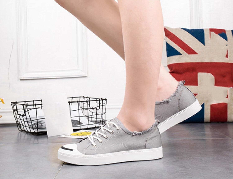 WFL Men's shoes summer canvas shoes small white shoes men's tide casual shoes wild white cloth shoes men