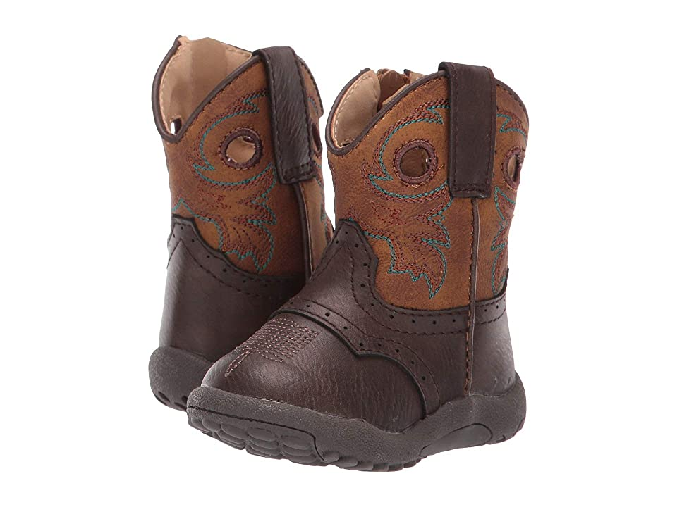 Roper Kids Daniel (Infant/Toddler) (Tumbled Brown Vamp/Saddle Shaft) Cowboy Boots