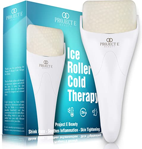 Project E Beauty Ice Roller Cold Therapy | Face Eye Body Massage Massager Under Eye Puffiness Brightening Cooling Coo...