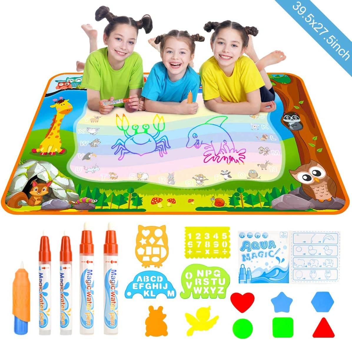 Doodle quality assurance Drawing Mat YEEGO Aqua Coloring Ext Max 86% OFF Water