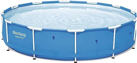 Bestway Steel Pro 56706 - Piscina (Piscina con anillo hinchable, Círculo, 6473 L, Azul, PVC, Poliéster, Acero, 0,8 mm)
