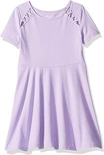 Big Girls' Short Sleeve Pleated Dress