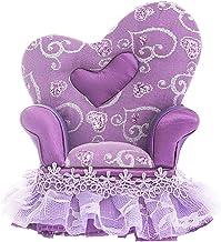 Yardwe 1pc Blat Pudelko na bizuterie Symulacja Krzeslo Model Mini Krzeslo Pojemnik (fioletowy)