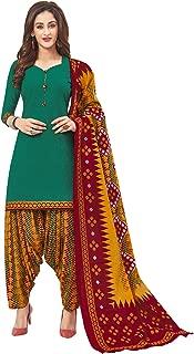 Jevi Prints Women's Cotton Printed Readymade Stitched Salwar Suit Dupatta (SUIT_CP-241)