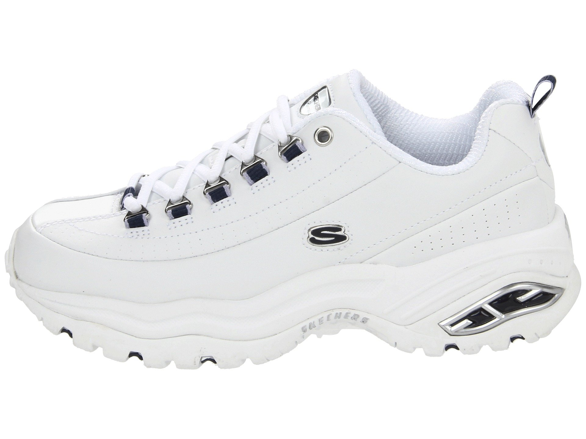 Premiums Smooth Leather navy White Skechers Trim 7vw6q6nEd