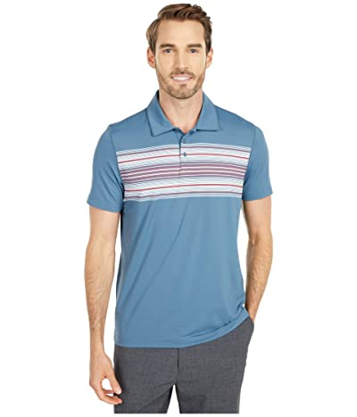 The Normal Brand Sunset Seamed Performance Polo (Mineral Blue) Men