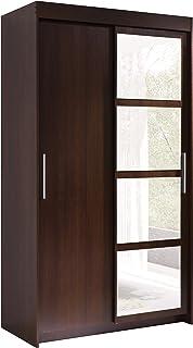 """Neuf, Moderne, Garde-robe 2 portes coulissantes avec miroir """"KARO"""". Largeur: 120cm Hauteur: 216cm Profondeur: 60cm. Chêne ..."""