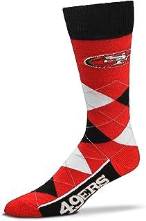For Bare Feet Herren 4 Square Mismatch Herren Crew Socken San Francisco 49ers