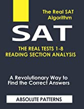 SAT THE REAL TESTS 1-8 READING SECTION ANALYSIS