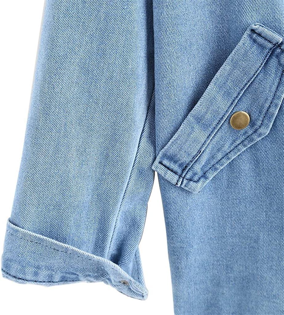 GELTDN Autumn Winter Button Up Ladies Denim Women Jacket with Hooded 2 Piece 3XL Female Jean Plus Size Women Coat (Color : Blue, Size : M Code)