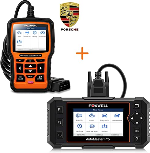 new arrival FOXWELL NT614 Elite 4 System Scan Tool new arrival with EPB/Oil Reset new arrival and NT510 Full System Code Reader for Porsche outlet online sale