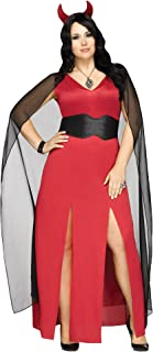 Fun World Devilicious Costume Women's Sexy Halloween Red Devil Fancy Dress Plus Size