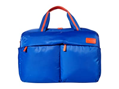 Lipault Paris City Plume 24 Hour Bag (Electric Blue/Flash Coral) Handbags