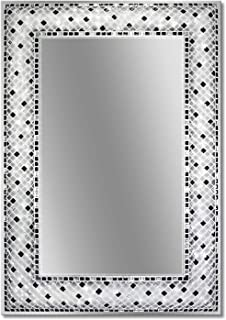 Head West Frameless Checkers Mosaic Rectangle, 22 inches by 32 inches Wall Mirror Multi