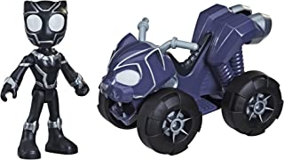 Spider-Man Marvel Spidey And His Amazing Friends Black Panther Action Figure And Panther Patroller Vehicle, For Kids Ages ...