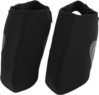 Fint utförande vindtätt skyddskläder, lädermaterialassistent svart snöskyddskydd, för skydd av skidskor skidanläggning(black)