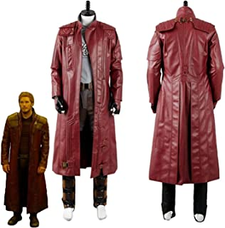 Star Chris Pratt Guardians Galaxy Vol 2 Leather Trench Coat Jacket