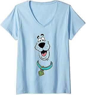 Femme Scooby Doo Face T-Shirt avec Col en V