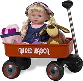 Kid Concepts Baby Doll with Wagon Playset, 11.5 inches