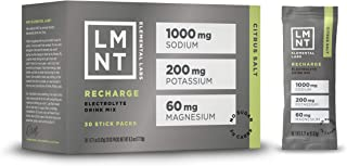 LMNT Recharge Electrolyte Hydration Mix Developed by Robb Wolf | Keto, Paleo, Vegan | No Sugar, No Artificial Ingredients | Maximize The Energy Health Benefits of Salt | Citrus Salt | 30 Stick Packs