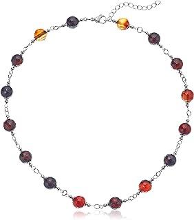 ELYA Jewelry Womens Stainless Steel Necklace