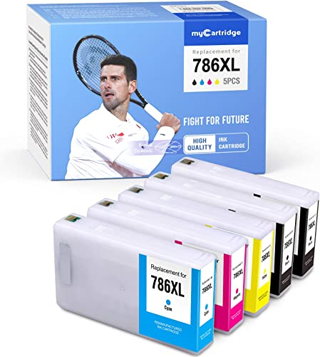 new arrival MYCARTRIDGE Remanufactured Ink Cartridge Replacement for Epson 786 XL 786XL Work for Workforce Pro WF-5620 WF-5190 WF-5690 WF-4640 online new arrival WF-4630 WF-5110 (2 Black, 1 Cyan, 1 Magenta, 1 Yellow, 5-Pack) online sale