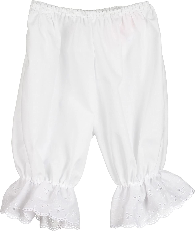 Little Zazzy Baby Girls White Pantaloon Pettipants Bloomer Under-Pants