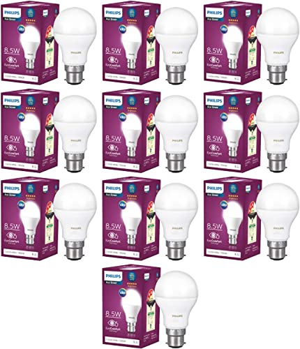 Philips 8 5 Watt Standard B22 LED Bulb Pack of 10 Cool Day White
