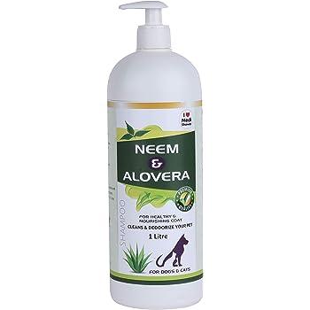 Medilogy Biotech Dog Shampoo Neem Aloe Vera 1 Litre Promotes Healthy Skin Coat Anti Bacterial Anti Fungal Anti Itch Anti Inflammatory