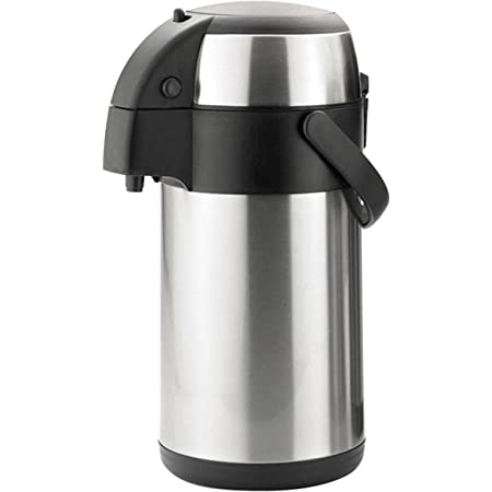 3 Litre Stainless Steel Unbreakable Pump Action Airpot Tea Coffee