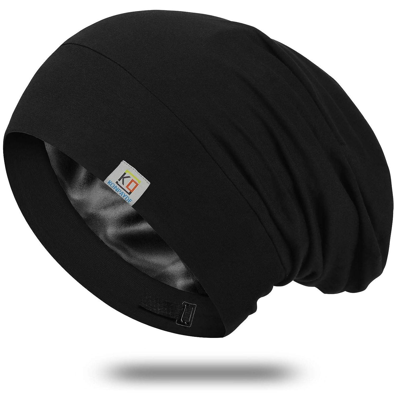 Rare Silk Bonnet Sleep Cap-Satin Sleeping Cap Women Men for and 5% OFF Soft