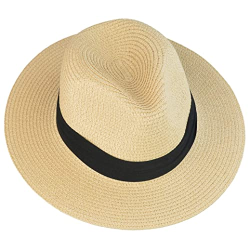 25f08353 mifengdaer Woman Rollable Panama hat Girls Foldable Floppy Straw Hat Ladies  Hand Woven Beach Cap Sun