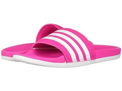 adidas Adilette CF+ Stripes (Shock Pink/White/Shock Pink) Women