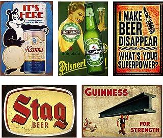 ZJLVMF Wall Decor Art Decorations Cafe Pub Man Cave Tin Signs Black Dog Ski Retro Vintages Metal Sign 12 x 12