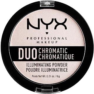 Nyx Professional Makeup Polvos Iluminadores Duo Chromatic Tono  4  Snow Rose 6 G