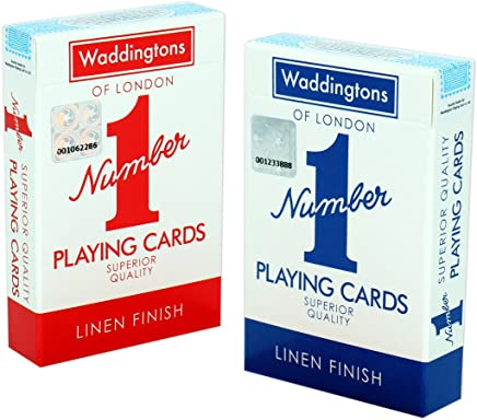 Classic Red and Blue Twin Pack Waddingtons Number 1